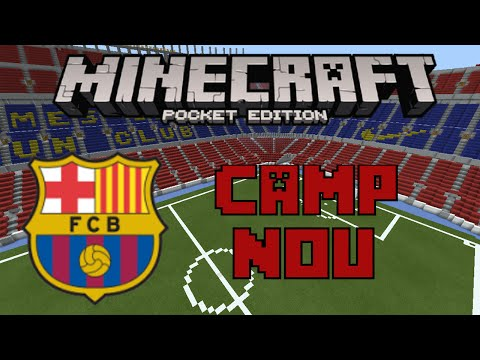 FC Barcelona - Camp Nou Stadium | Minecraft PE Map