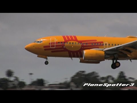 'New Mexico One' Southwest Airlines Boeing 737-7H4 [N781WN] Landing San Diego