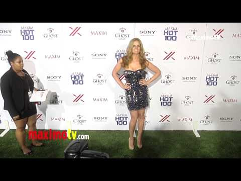 Rebecca Mader 2013 MAXIM HOT 100 Party Green Carpet ARRIVALS