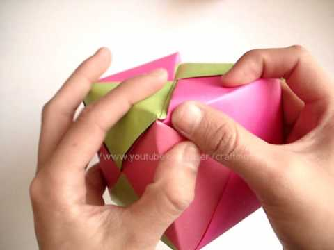 Carta cubo con chocolates // regalo de mes