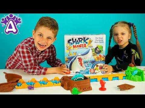 Игрушки для детей Игра Акула Shark mania game Видео для детей Розыгрыши от Друзяк Games for children