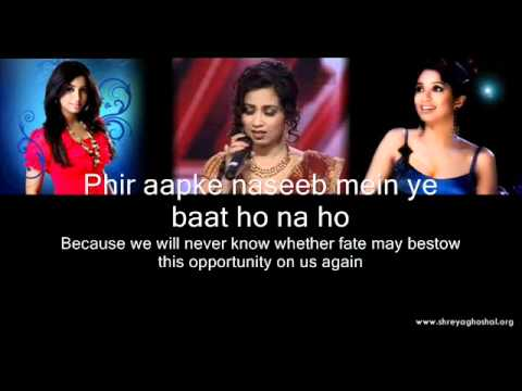 Shreya Ghoshal - Lag Ja Gale (lyrics) video