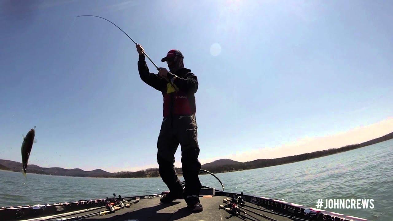 John Crews    Bassmaster Elite at Table Rock Lake Video