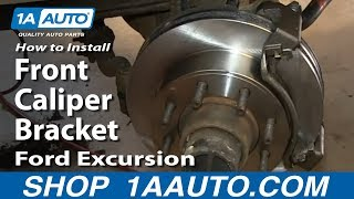 How To Install Replace Sticking Rusty Front Caliper Bracket Ford Excursion F250 Super Duty