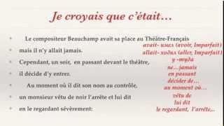 Урок французского языка.Чтение с комментариями.Je croyais...