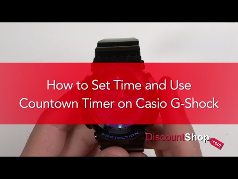 HOW TO: Set Time and Countdown Timer on Casio G-Shock Watches