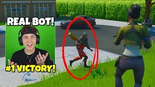 i gave wins to real bots in fortnite after killing real players... (haha)