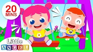 Baby John Goes to the Playground | Jack & Jill Play Safe | Kids Songs & Nursery Rhymes, Little Angel