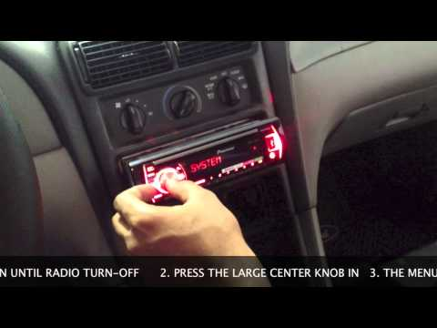How To Set Clock on Pioneer Car Radio