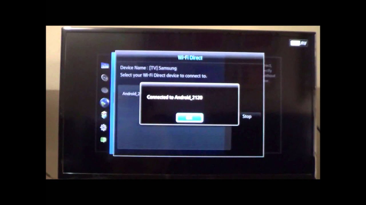 Set up screen mirroring samsung smart tv and htc one for Mirror laptop to tv
