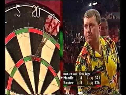 Darts World Championship 2001 Quarter Final Mardle vs Baxter