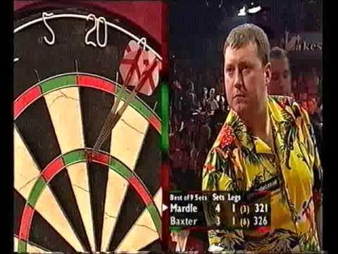 Darts World Championship 2001 Quarter Final Mardle vs Baxter