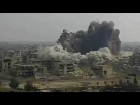 Syrian Army destroys the highest tower in the Jobar east of Damascus