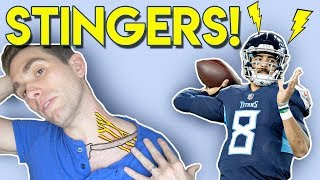 STINGERS!! Marcus Mariota Injury Explained