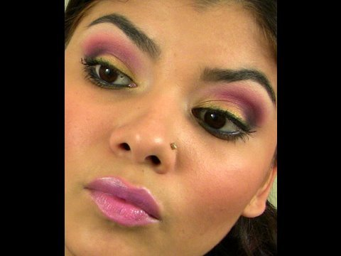 A fun and Colorful Summer look - Purple and Gold. Video