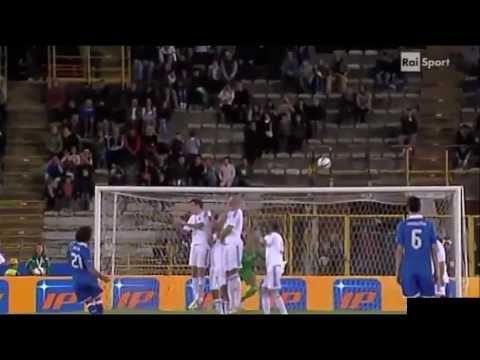 Andrea Pirlo Fantastico Freekick Goal Italia 4-0 San Marino.