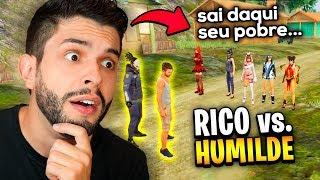 SÓ TEM INTERESSEIRA?!? RICO VS. HUMILDE NAS CANTADAS DO FREE FIRE!!!