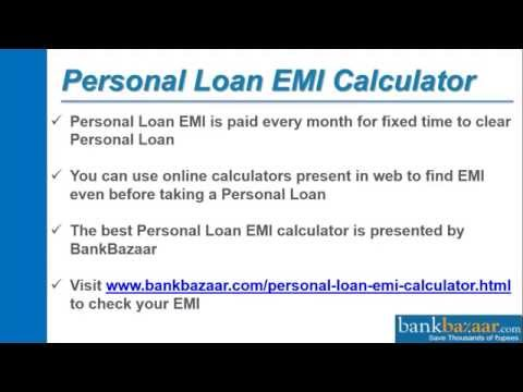 How To Use Personal Loan Emi Calculator You
