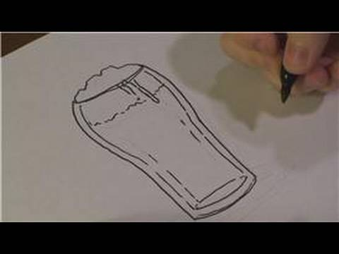 Beer Bottles Drawing How to Draw a Beer Glass