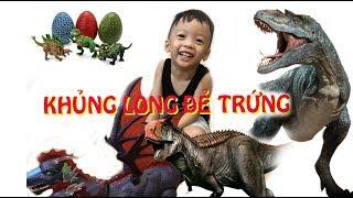 Đồ chơi trẻ em-Nhật Nam Bóc Hộp Đồ Chơi Khủng Long Đẻ Trứng-dinosaurs lay eggs - Bông-Toysreview-tv
