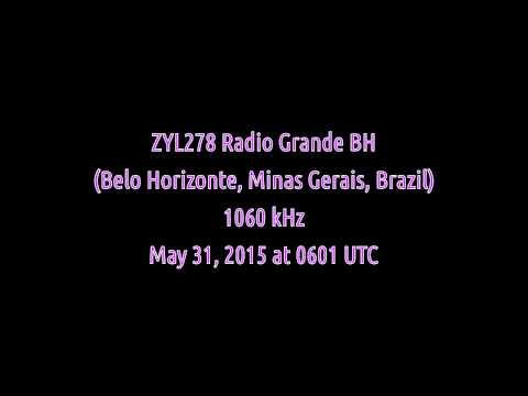 ZYL278 Radio Grande BH (Belo Horizonte, Minas Gerais, Brazil) - 1060 kHz