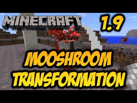 Minecraft 1.9 - Mooshroom Transformation (HD)