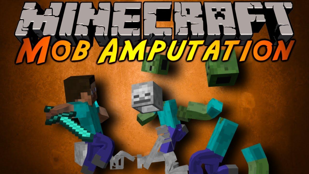 [1.8] Mob Amputation - отруби зомби руку!
