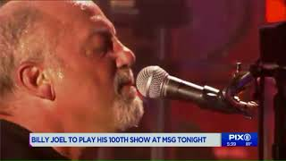 Billy Joel to play his 100th show at Madison Square Garden