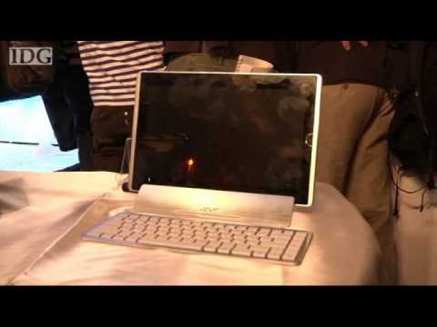 Asustek shows off a 12-inch tablet PC at Computex