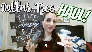 DOLLAR TREE HAUL 1-4-18!! NEW HOME DECOR!