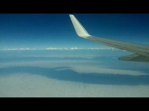 Kathmandu Airport Landing - Jet Airways Boeing 737