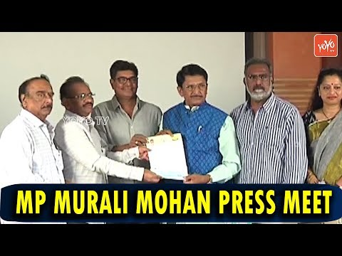 Tollywood Senior Actor & MP Murali Mohan Press Meet about CM Relief Fund | YOYO TV Channel