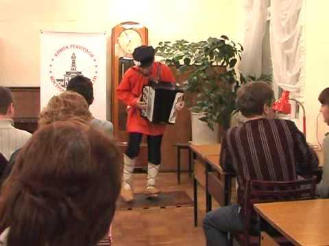 танец «Russian chechotka» - «Чечетка в лаптях и с баяном»