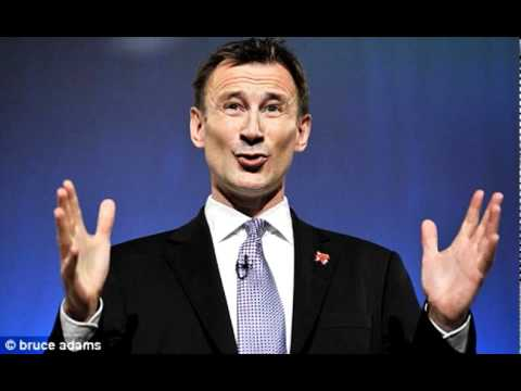 Jeremy Hunt Culture Secretary Freudian Ooops - BOTH versions