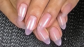 The nail gel. How to increase the nails. Gel nail extensions.