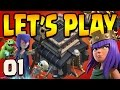 Clash of Clans: Let's Play TH9!! ep1 - Day One ARCHER QUEEN