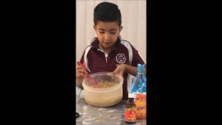 Prepare Cake from Parle G Biscuit - By 7 yr old Jay Bhatia