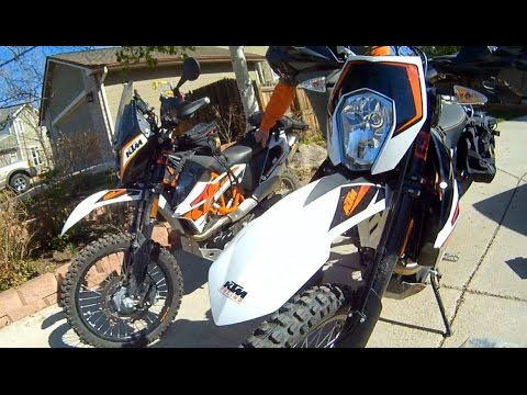 Review of TWO 2015 KTM 690R Enduro ABS's. We compare our modifications for riding Moab.