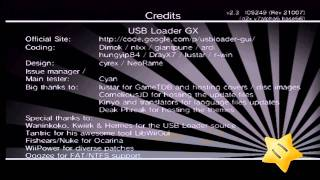 Usb Loader GX Credits Music