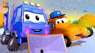🎄Cây thông Giáng Sinh RƠI trúng XE CÀO TUYẾT Sam! - tiệm rửa xe của Tom💧 phim hoạt hình về xe tải