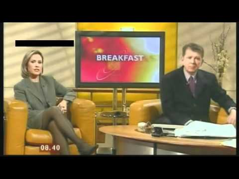 Sophie Raworth [BBC1] - Circa 2000 Leggy stockings high heels classic.