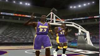 NBA LIVE 2004 - An unbeatable Lakers starting 5