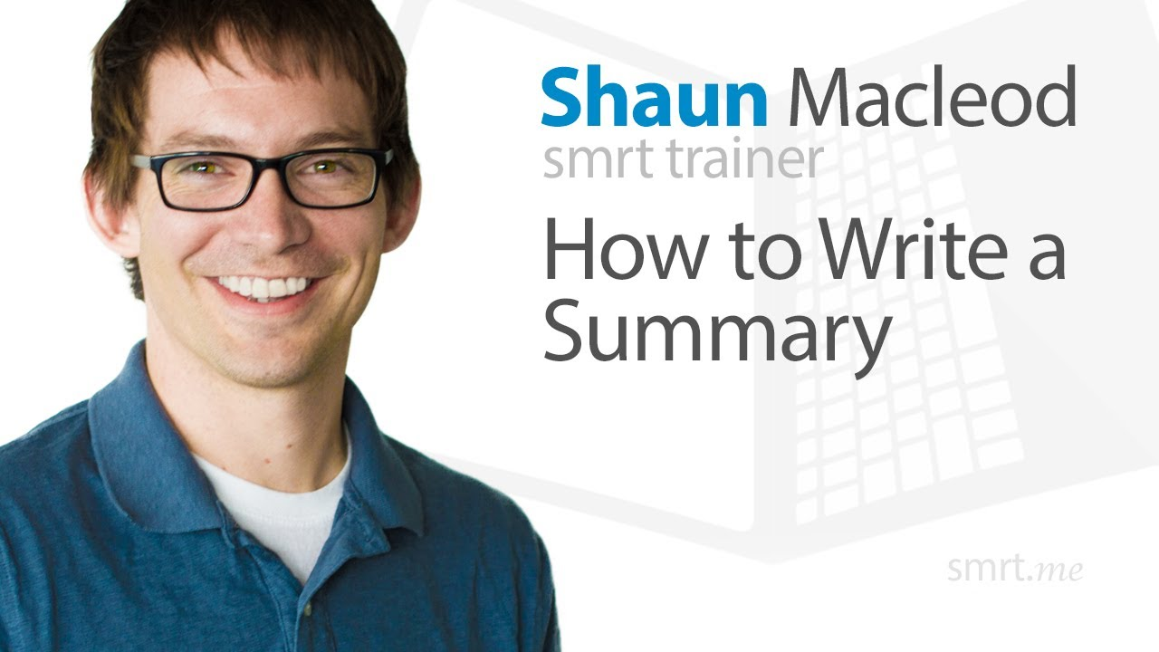 writing summary of an article