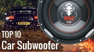 Best Car Subwoofers 2018
