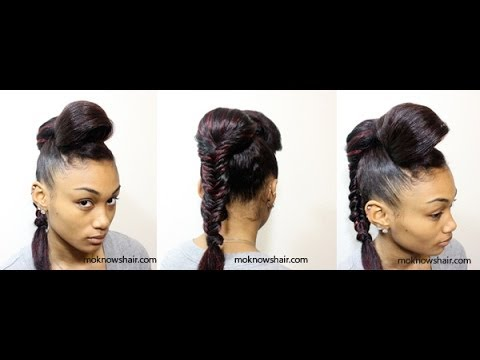Vintage Roll with Fishtail Braid