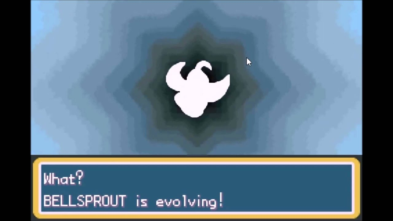 Pokemon Bellsprout Evolves Gba Bellsprout Evolves