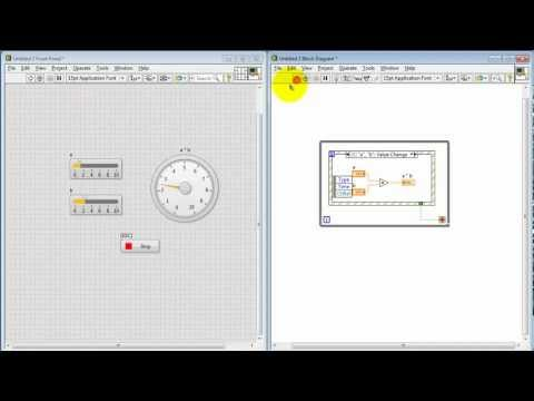 NI LabVIEW: Event structure for interactive front panel