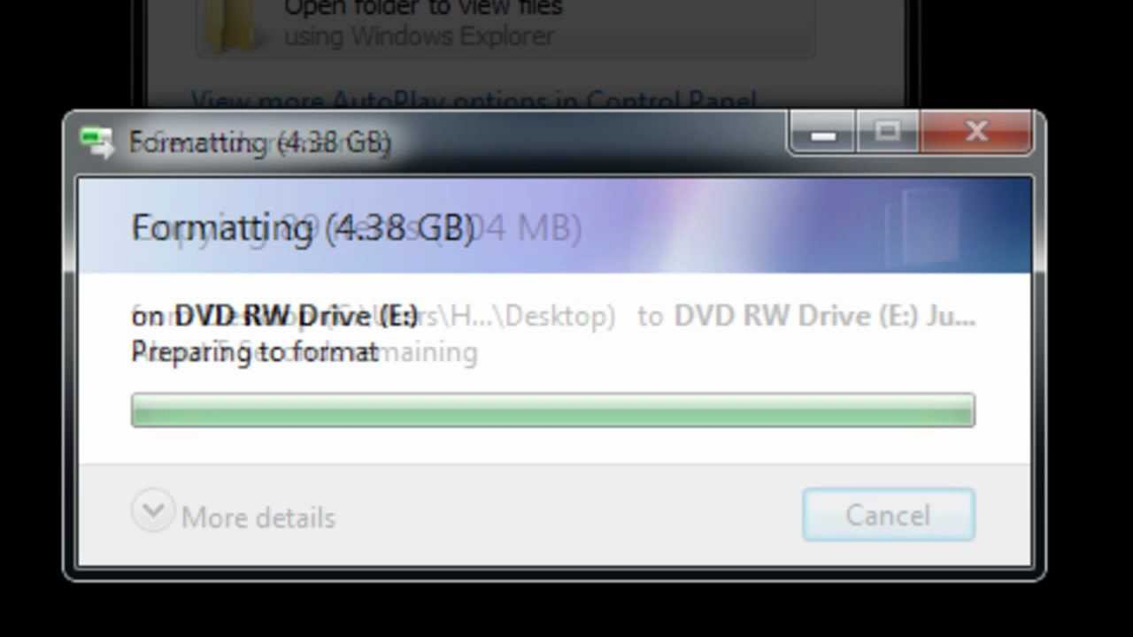 How to write dvd files