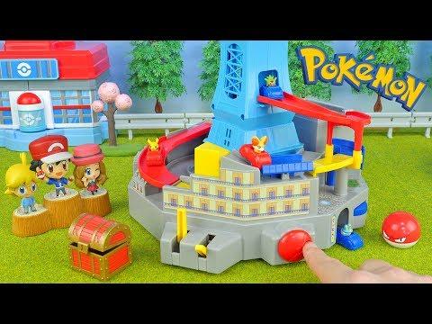 Pokemon Car Race | Run!! Lumiose City | Toys Video For Kids