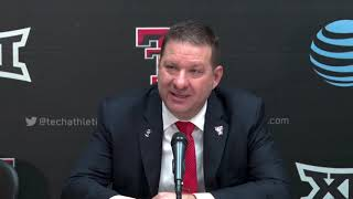 Texas Tech Basketball - Press Conference